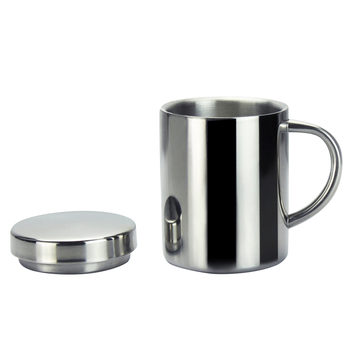 Double Insulation Stainless Steel Coffee Mug With Lid