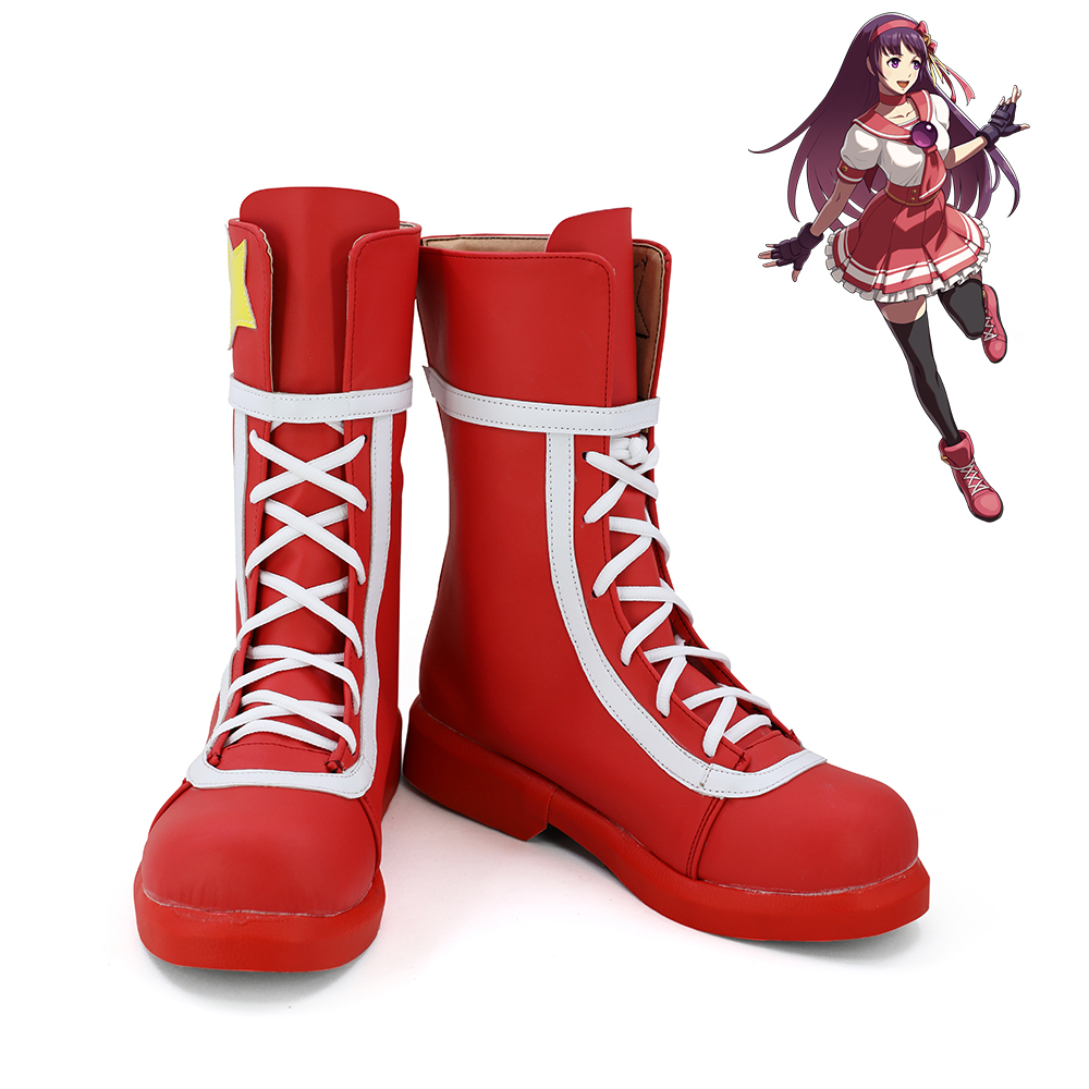 The King of Fighters XIV Athena Asamiya Cosplay Shoes Women Boots