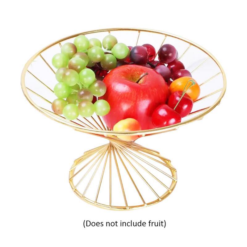 Fashion Simple Innovative Metal Fruit Basket Stand Fruit Bowl Fruit Basket Tray for Living Room /Household /Decorative Display