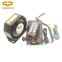 Loud Car Horn 12V 200W Police Siren Amplifier Megaphone Alarm 9 Tones Sound Pa System Warning Electrical Siren Horns Truck Train