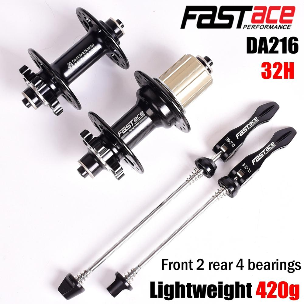 Fastace Bicycle DA216 Hubs Sealed 4 Bearing MTB Mountain Bike Hub Rear Hub 10 135mm QR