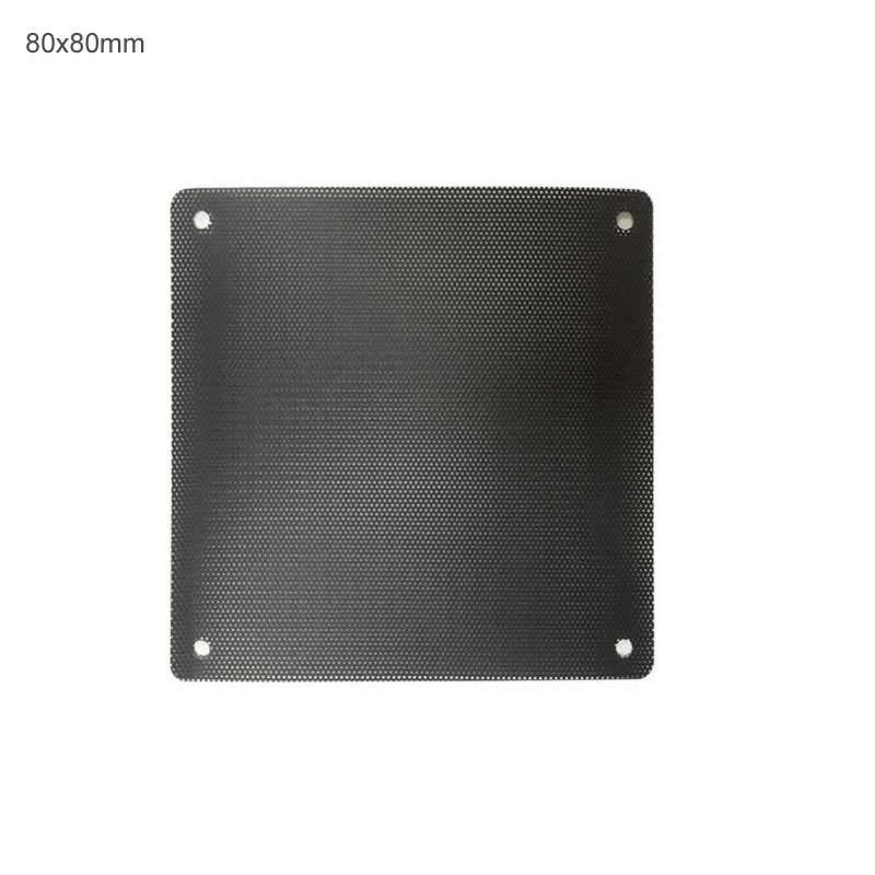 12 Unids/lote 80x80mm Ordenador Pc A Prueba De Polvo Ventilador De Cubierta De La Caja De Filtro De Polvo De Cortado De Malla Encaja