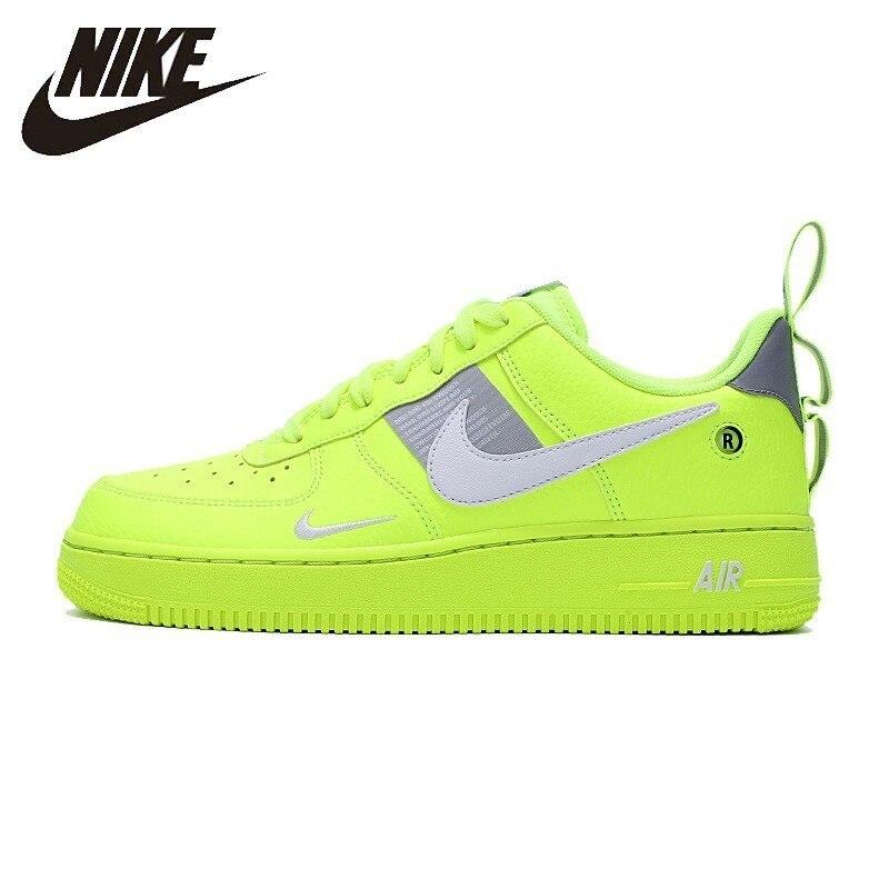 Nike официальный Air Force 1 дышащая для мужчин Скейтбординг обувь с глубоким вырезом Удобные Спортивная обувь Новое поступление # AJ7747