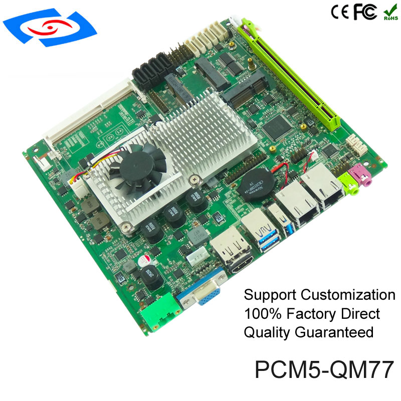 2019 Mini ITX bundkort support rPGA 988 Socket G2 (PCM5-QM77)