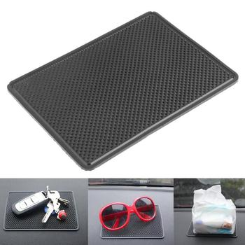Automobiles Silicone Gel Non-slip Pad Oval Round/Rectangle Car Anti-slip Mat for Tablet Phone Mobiles MP3/MP4 Player Black image