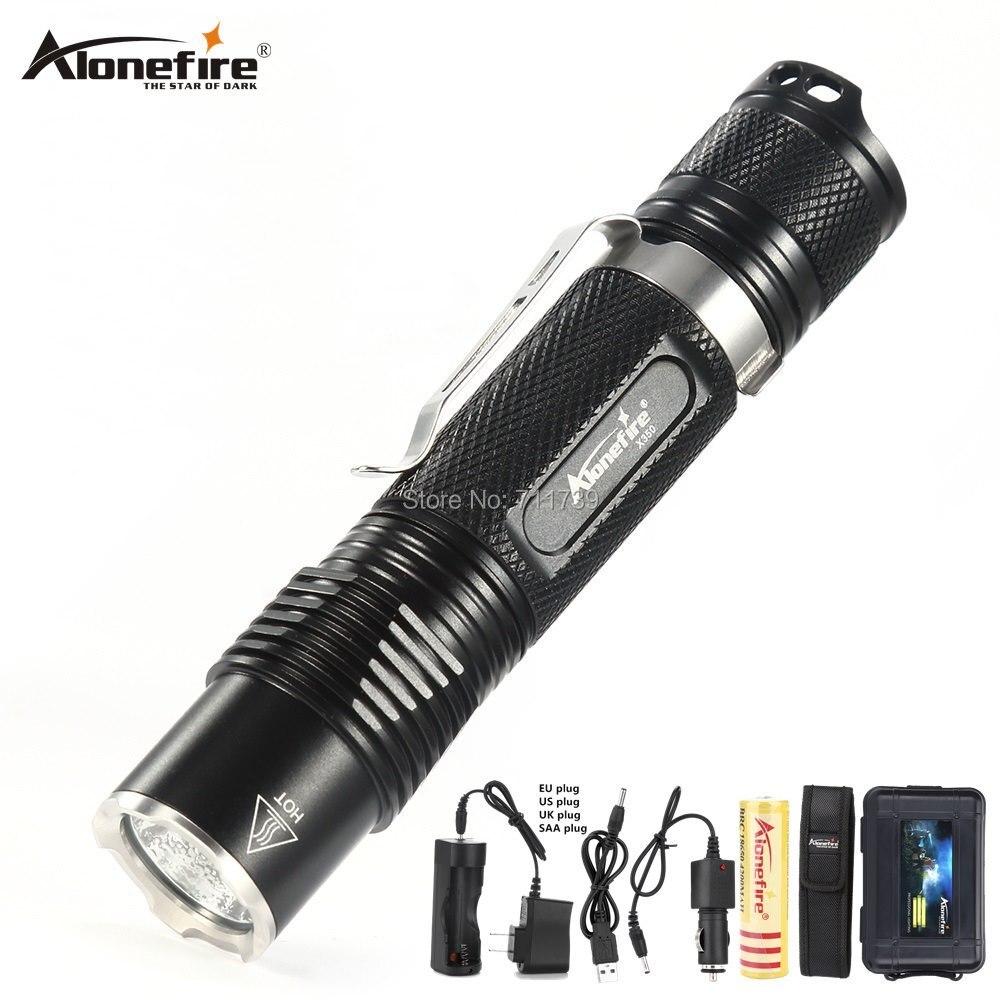s//n DEL Lampe de Poche Zoomable lumineux étanche tactique 1000 LM Mode XPE 4