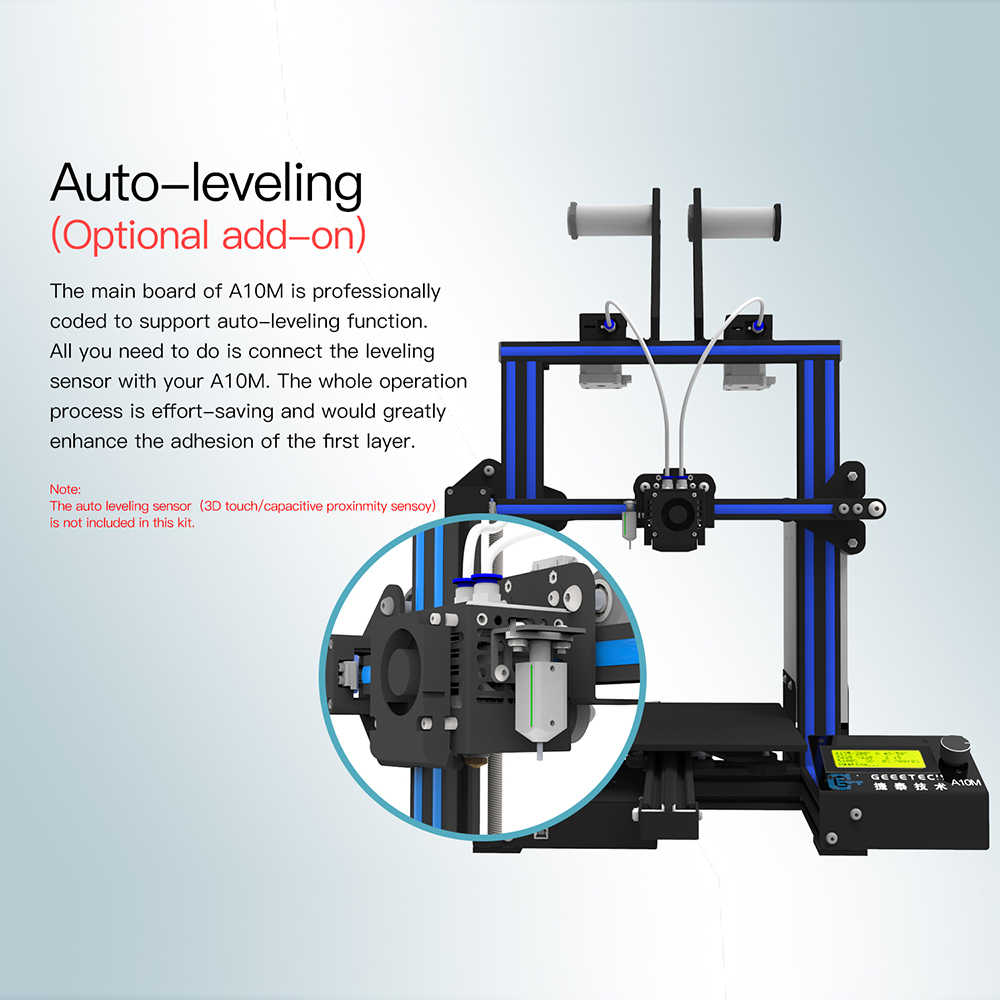Geeetech A10M 3D Printer DIY Kit Aluminum Profile Quick Assembly Support  2-In-1 Mix-Color Printing Break-Resume Capacity
