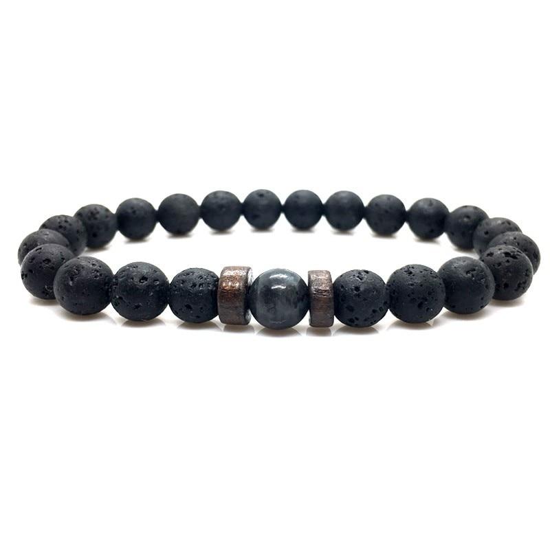 Men Bracelet Natural Moonstone Bead Tibetan Buddha Bracelet chakra Lava Stone Diffuser Bracelets Men Jewelry gift Drop Shipping 4