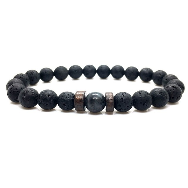 Men Bracelet Natural Moonstone Bead Tibetan Buddha Chakra Lava Stone Diffuser Bracelets Jewelry Gift 4
