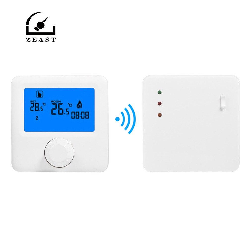 Thermostat numérique sans fil LCD RF chauffage Thermostat Programmable thermomètre pour système de chauffage électrique mural Thermost