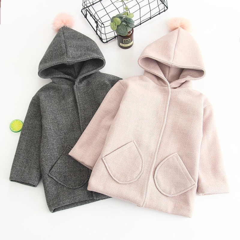 Winter Jackets Girls Hooded Hair Ball Wool Baby Clothes 3 4 5 6 7 Years Toddler Kids Outerwear Fashion Wool Coat  Girls ClothingWinter Jackets Girls Hooded Hair Ball Wool Baby Clothes 3 4 5 6 7 Years Toddler Kids Outerwear Fashion Wool Coat  Girls Clothing