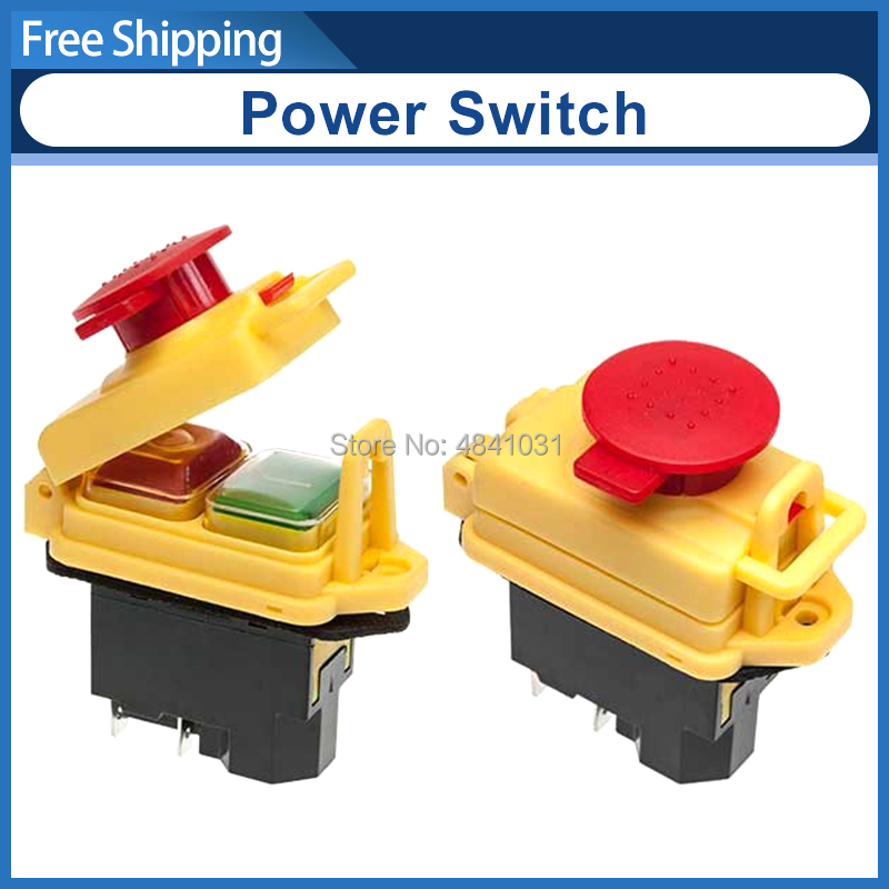 KJD17B Power Emergency stop switch SIEG SC2 104 Electromagnetic Urgent Stop Switch