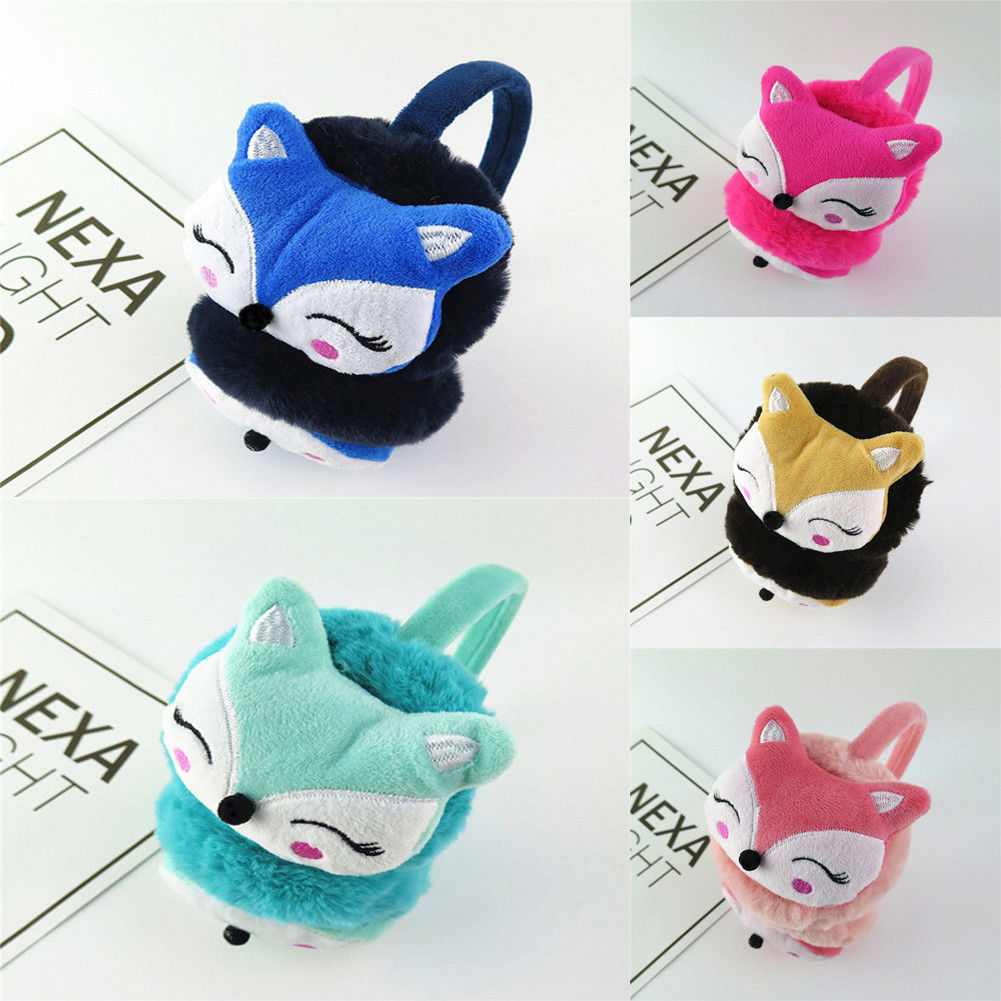Kawaii Cute Animal Fur Earmuffs 2019 New Ear Warmer Ear Muffs Winter Accessories For Women Plushed Cartoon Animals Style