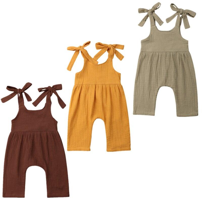 2d0364622 Newborn Nette Baby Mädchen Sling Baumwolle Off Schulter Overall Trikot  Overall Set Sunsuit 0-24