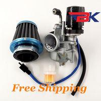 Carburetor W/ Air Filter For 2 Stroke Dinli 50cc 70cc 90cc 100cc 110cc ATV Electric chock Carb