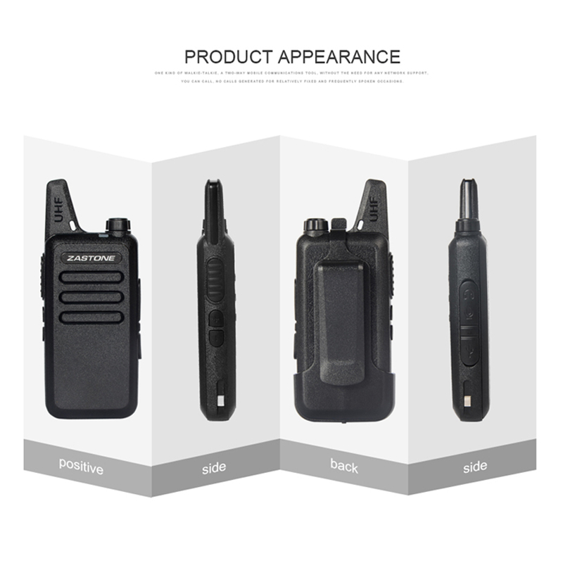 1pc Zastone X6 Mini Walkie Talkie with Headset 400-470Mhz Frequency UHF  Handheld Radios Intercom Two-Way Radio Security Equipmen