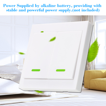 EWeLink 5PCS Push Button Wall Light Switch Remote Controller 2 Gang 86Type 433MHz Wireless RF Remote Control Living Room Bedroom