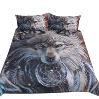 Home Textile Bedding Three Piece 3d Print Duvet Cover Constellation Bed Set Bohemian Bedclothes