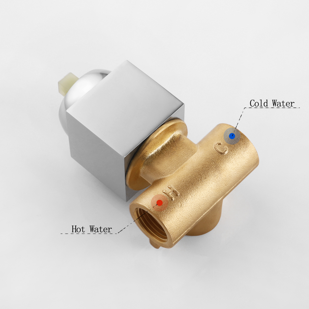 Image 3 - SKOWLL Shower Mixer Valve Shower Faucet Brass Bathroom Hot Cold Bath Mixer Valve Wall Mounted Water Tap torneira chuveiro-in Shower Faucets from Home Improvement