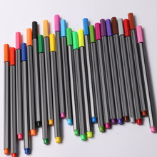 24 Colors 0.4mm Tip Drawing Sketch Fine Line Stationery Smooth Marker Art Supplies School Office Water Color Pen(China)