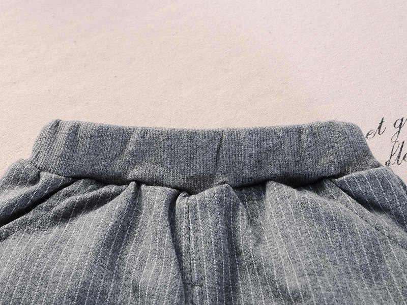 ילדי בני בנות כותנה סטי בגדי אופנה תינוק מעיל אדון מכנסיים 2 יחידות\סט אביב סתיו פורמליות פעוט אימוניות