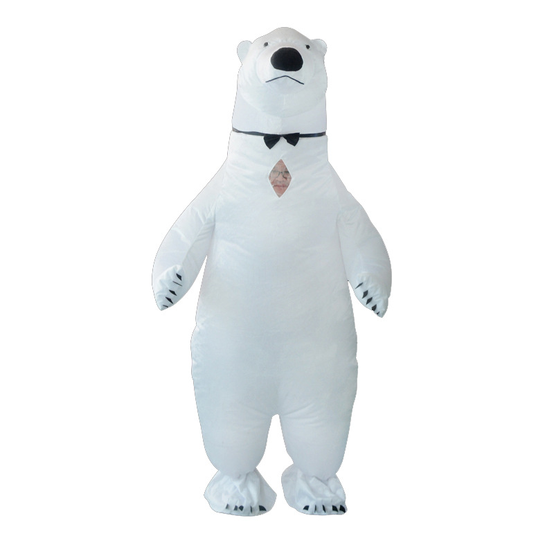 White Polar Bear Inflatable Costume Mascot Adult Costumes Animal Christmas Halloween Birthday Party Cosplay Costume