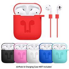 18 farben Silikon Fall Für Apple Airpods Stoßfest Abdeckung Für Apple AirPods Kopfhörer Cases Dünne für Air Schoten Protector Fall