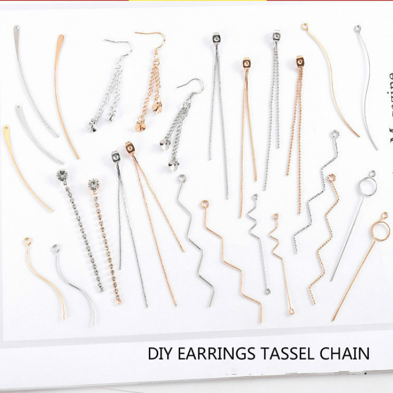 Gold Silver Connectors  For Jewelry Making Findings Diy Earrings Accessories Metal Tassel Chain Handmade Jewelry Materials