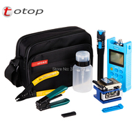 Fiber Optic FTTH Tool Kit with FC 6S Fiber Cleaver, Visual Fault Locator, Miller wire Stripper, Wire stripper,Power Meter
