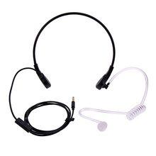 1pin 3.5mm Throat Mic Microphone Covert Acoustic Tube Earpiece Headset For Samsung/HTC/LG/Blackberry/MOTORO Smart Phone Earpho