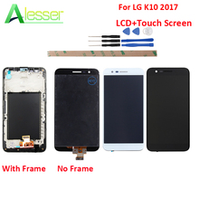Alesser For LG K10 2017 LCD Display Touch Screen With Frame +Tools Replacement For LG K10 2017 Display K20 Plus M250 M250N M250E