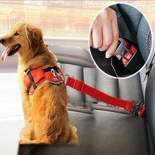 Nylon Pets Puppy Seat Lead Leash Dog Harness Vehicle Belt Pet Supplies Travel Clip Adjustable Safety