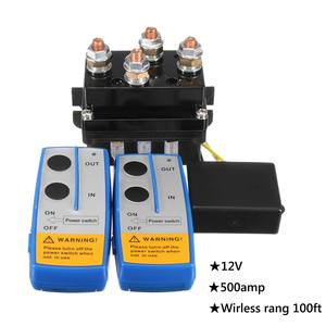 Image 3 - Universal Solenoid Twin Wireless Remote Control Controller Recovery 4x4 12V 500Amp HD Contactor Winch Control