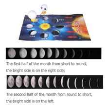 Kids DIY Moon Assembly Formation Phase Science Experiment Training Creativity of Handmade Materials Toys Popular Equipment