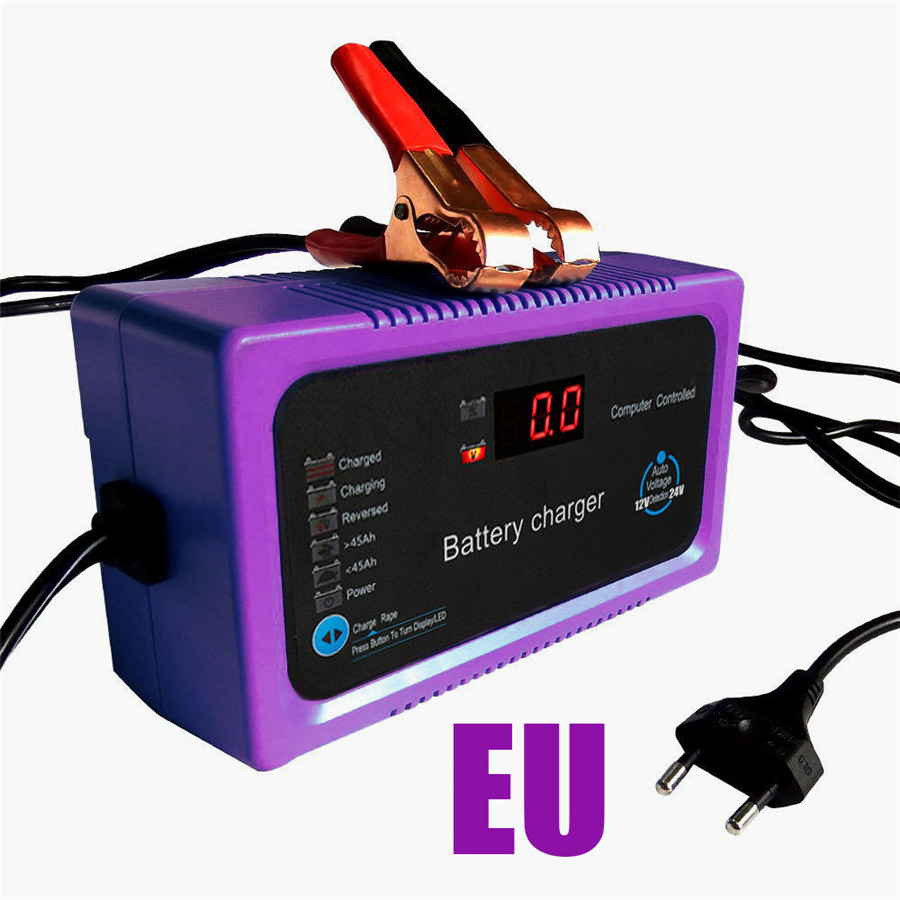 <font><b>12V</b></font> 24V <font><b>200AH</b></font> Automatic Car <font><b>Battery</b></font> <font><b>Charger</b></font> Intelligent Repair Type Power Charging EU adapter image