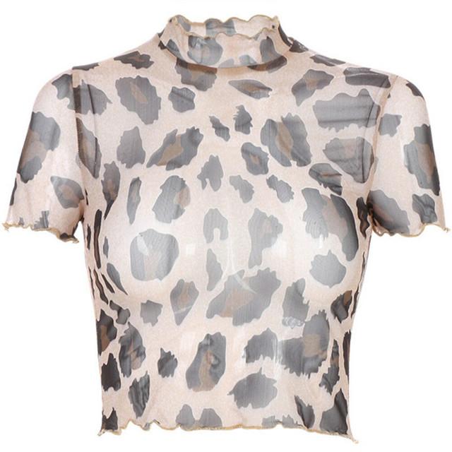 Top Leopard Tul