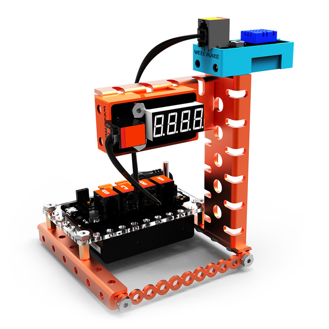 US $139 99 50% OFF|WeeeMake DIY Smart RC Robot Kit Programmable Home  Inventor Kit Weather Station Rainbow Color Lamp Magical Musician-in RC  Robot from