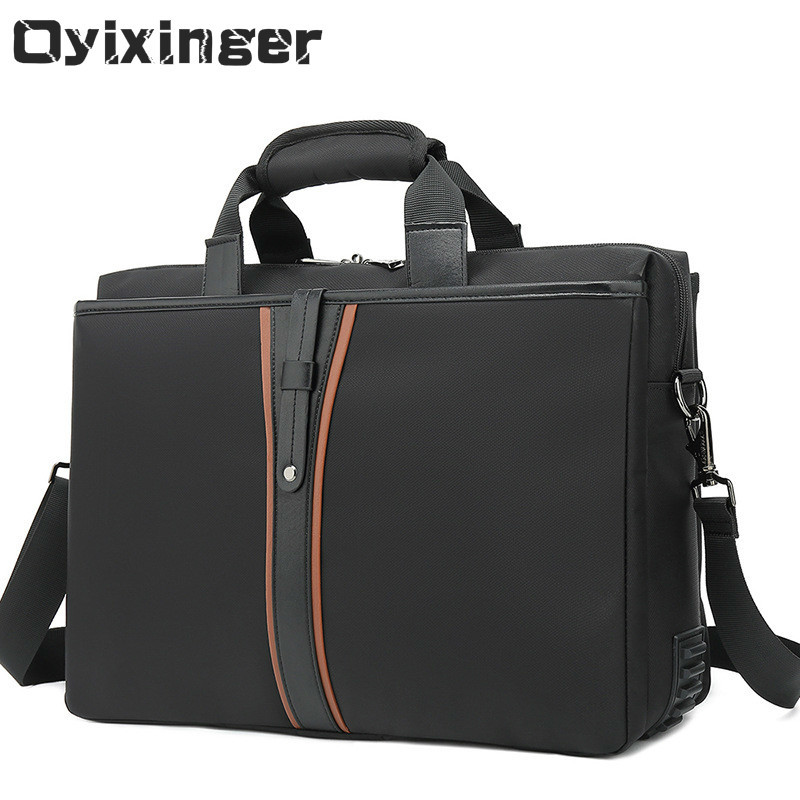 Fashion Men's Black Briefcase Bag Male Shoulder Bag Man Business Handbag Men 15.6