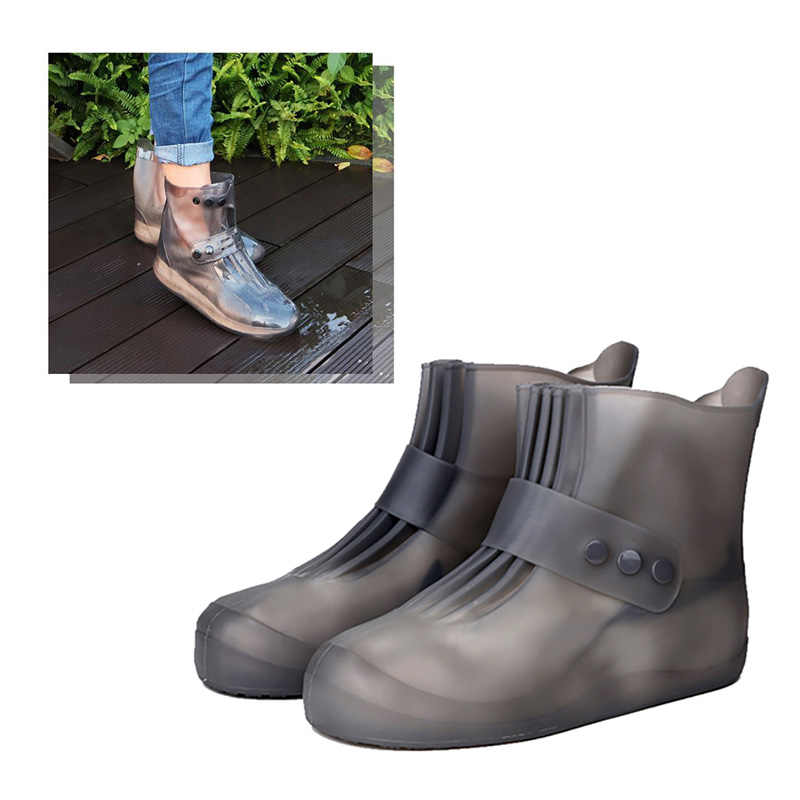 0407b739fcb Rain boots waterproof PVC rubber boots non-slip water shoes cover rainy day  men and women children shoe covers