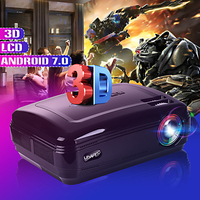 10000 люмен 1080 P мини проектор 3D светодиодный домашний кинотеатр тв проектор/AV/VGA/HD мультимедийный проектор для домашнего кинотеатра