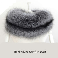 Real fur scarf winter women scarf one whole genuine silver/red fox fur wraps sexy warm white gray ladies fur scarves S145