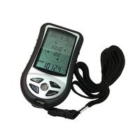 LCD Backlight Digital Compass Altimeter Barometer Silver Black Thermometer 12/24 (AM/PM) Weather Forecast