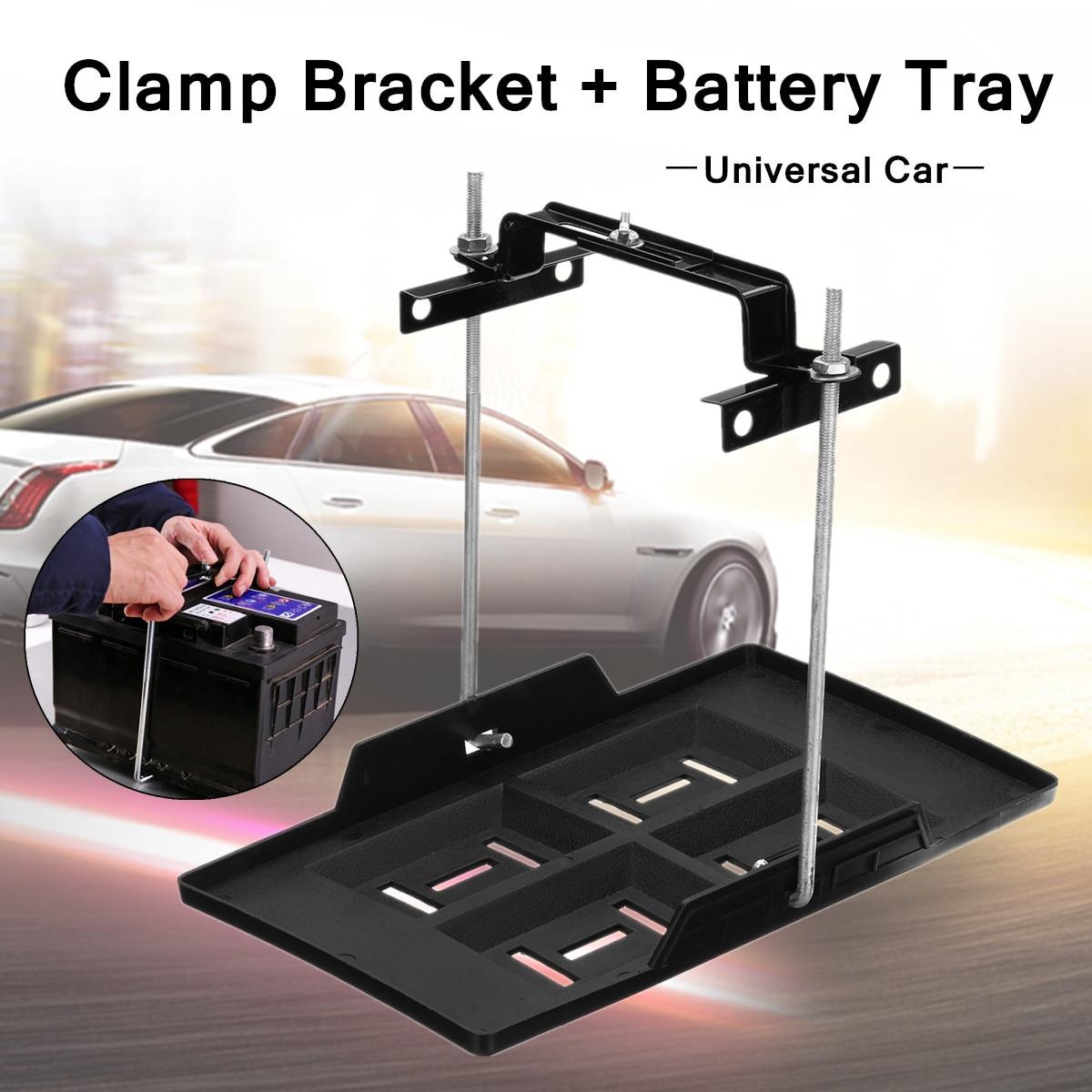 Car Storage Battery Holder Tray Adjustable Stabilizer Mounting Fixed Bracket Kit
