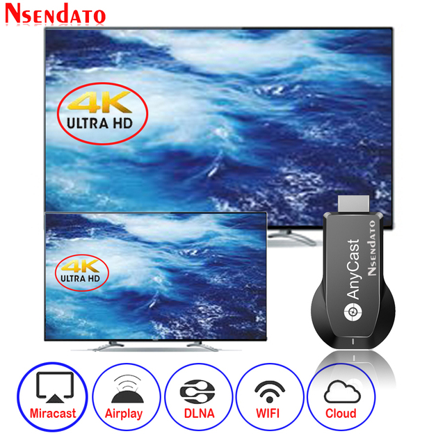 Anycast M100 2.4G/5G 4K Miracast Any Cast Wireless DLNA AirPlay HDMI TV Stick Wifi Display Dongle Receiver for IOS Android PC 2