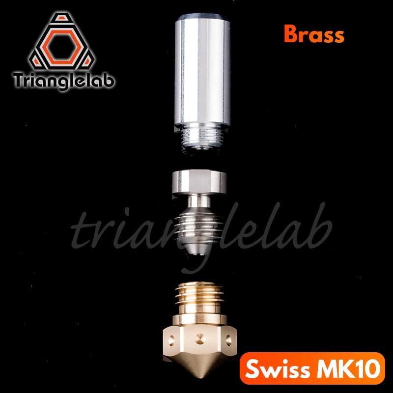 Super high quality Micro Swiss MK10 All Metal Hotend Kit MK10 Nozzle M7 3D printer kit Threaded Nozz