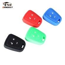 Cover-Shell Car-Key-Case Spark Aveo Silicone-Rubber Chevy Remote 3-Button Dandkey