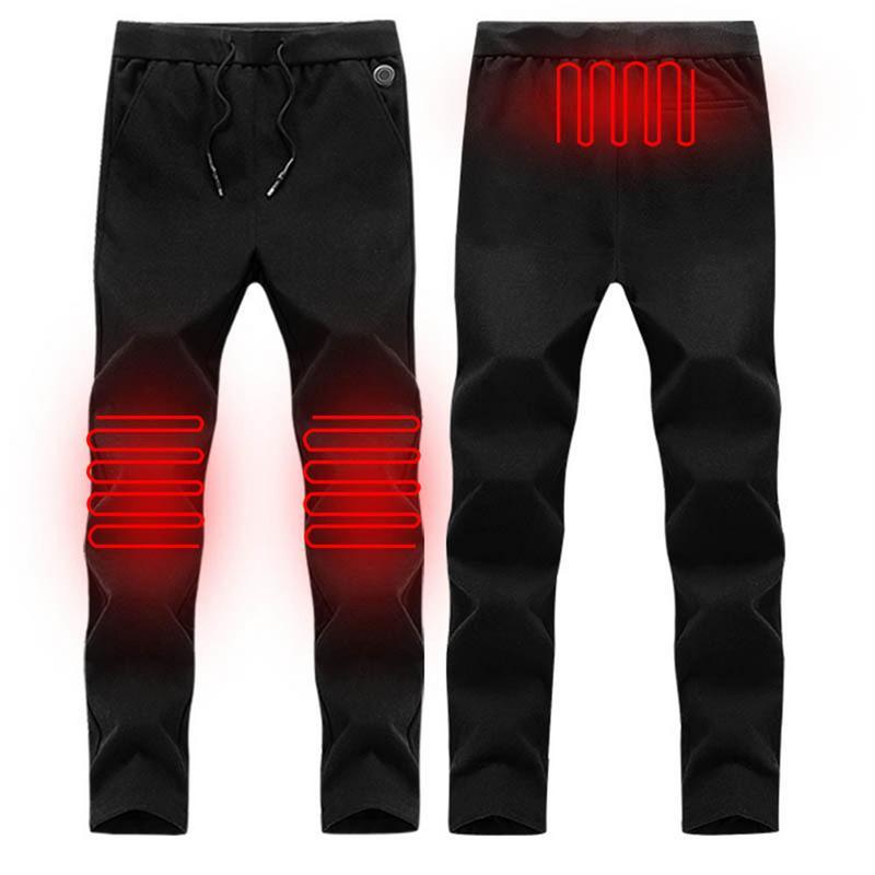 Winter Outdoor Hiking Heating Pants Trousers 3 Mode Adjustable Smart USB Heating Leggings Base Layer Elastic Warm Pants