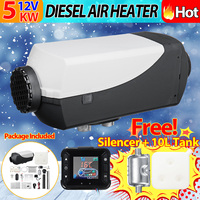 Car Heater 5KW 12V Air Diesels Heater Parking Heater With Remote Control LCD Monitor for RV Motorhome Trailer Trucks Boats