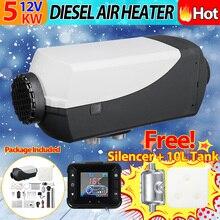 Radiateur de voiture 5KW 12 V Air Diesels Chauffe-chauffage de stationnement Avec télécommande écran lcd pour Camping-Car RV Remorque Camions Bateaux