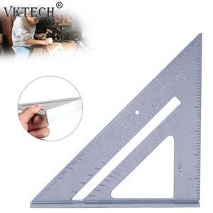 Image 2 - 7 zoll Aluminium Speed Quadrat Dreieck Winkelmesser Mess Werkzeug Multi funktion Winkelmesser Winkel Measurment